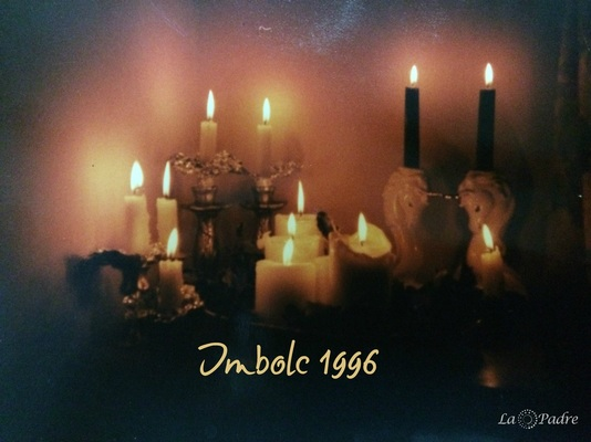 Imbolc 1996 with so many candles and so many intentions